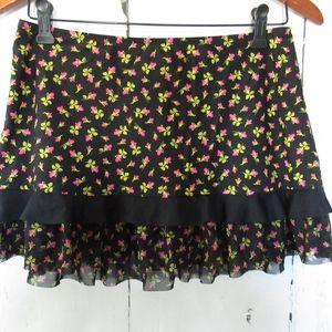 Betsey Johnson Swim Cover Up Skirt Floral Rosebud